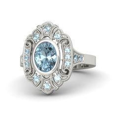 Aria Aquamarine Ring