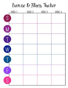 fitness tracker Free Printable Fitness Trackers: 3 Different Monthly Designs Workout Log, Month Workout, Workout Schedule, Workout Challenge, Workout Calendar Printable, Printable Workouts, Printable Planner, Free Printables, Fitness Calendar