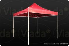 Carpa plegable color rojo 3x3 gama optima #carpa #carpaplegable #carpaplegablebarata http://viada.net/tienda/