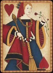 The queen of hearts card