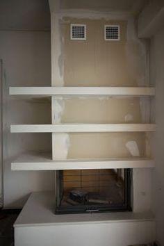 v Fireplaces, Sweet Home, Shelves, Living Room, Design, Home Decor, Houses, Fire Places, Modern