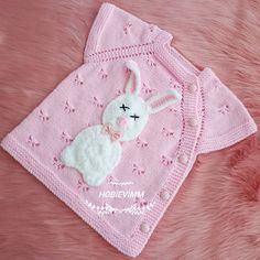 Likes, 103 Comments - FThis post was discovereThis Pin was discovered by NurNo photo description available. Baby Knitting Patterns, Baby Girl Patterns, Knitting For Kids, Easy Knitting, Knitting Stitches, Crochet Patterns, Baby Vest, Baby Cardigan, Tricot Baby