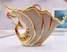 peacock ceramics | muito bela decoração de cerâmica vaso de pavão