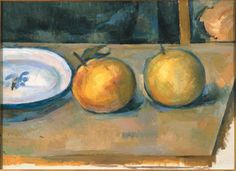 """""""Two Apples on a Table"""" by Paul Cezanne"""