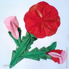 130 Best Flat Origami Flowers Images Origami Flowers Paper Crafts