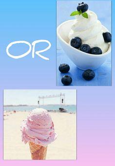 Frozen yougort or ice cream??