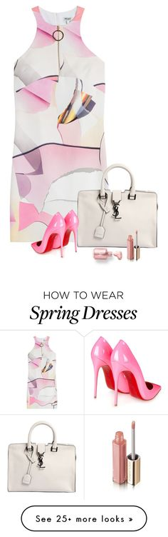 """""""Spring"""" by lisa-holt on Polyvore featuring Mode, Kenzo, Yves Saint Laurent, Christian Louboutin und Dolce&Gabbana"""