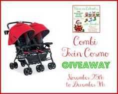 Combi Twin Cosmo Double Stroller Giveaway!  Go here: http://www.vivaveltoro.com/2013/11/combi-twin-cosmo-double-stroller-giveaway-incahoots.html#comment-43576