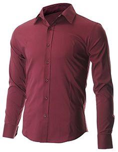 FLATSEVEN Men's Slim Fit Casual Button Down Dress Shirt Long Sleeve (SH600) Wine, M FLATSEVEN http://www.amazon.com/dp/B00OWXZ1ZU/ref=cm_sw_r_pi_dp_Ifiwub1FJBQ0X