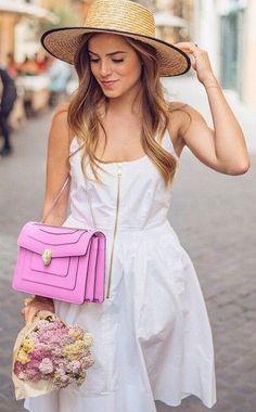 #street #style white dress + pink @wachabuy