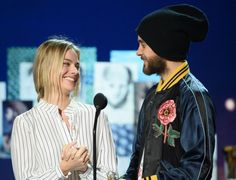 Jared Leto and Margot Robbie at #Oscars rehearsal.- 27-02-2015.-