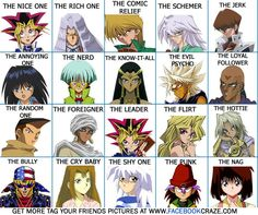 Yu Gi OH Characters | yu-gi-oh-characters-tagging-picture-chart-for-facebook