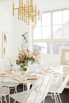 Feminine Home Decor Ideas Table Design Dining Room Inspiration Interior