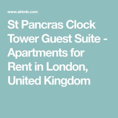 St Pancras Clock Tower Guest Suite - Apartments for Rent in London, United Kingdom