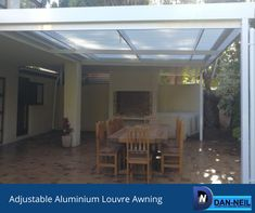 Adjustable Aluminium Louvre awnings add style & function to your home