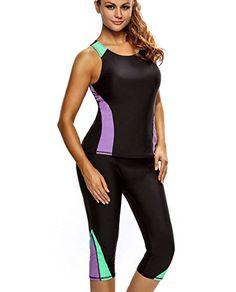 S-XXXL Modest Swimsuits, Women Swimsuits, Capri Leggings, Capri Pants, Mother Daughter Outfits, Black Tankini, Fitted Suit, One Piece Suit, Swimsuit Cover Ups