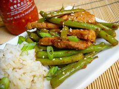 szechuan pork & green beans