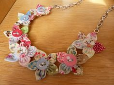 Handmade By Hannah: Fabric Flower Necklace, Nursing Necklace?