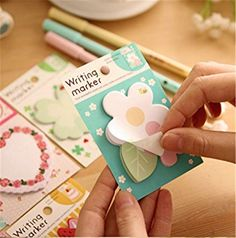 Affe 4pcs Kawaii Vintage Floral Cake Planner Memo Pads School Supplies Stationery Sticky Notes Notepad Post it Papelaria Sticker