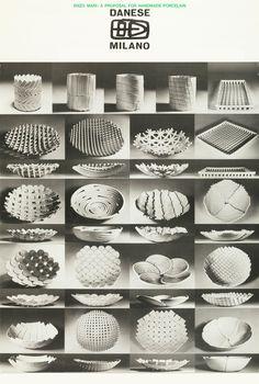 Design is fine. History is mine. — Enzo Mari, Samos bowls, model S/B, Glazed. Pottery Bowls, Ceramic Pottery, Pottery Art, Clay Art Projects, Ceramics Projects, Ceramic Tableware, Ceramic Clay, Ceramic Teapots, Pottery Sculpture