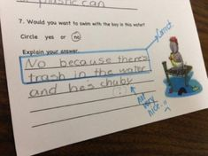 """23 Funny Test Answers That Are So Wrong They're Right - Funny memes that """"GET IT"""" and want you to too. Get the latest funniest memes and keep up what is going on in the meme-o-sphere. Homework Humor, Funny Kids Homework, Funny Jokes For Kids, Funny Pictures For Kids, Funny Quotes For Teens, Funny Quotes About Life, Quotes For Kids, Fun Funny, Funny Pics"""