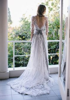 Mark Kara/Elie Saab | Wedding dresses with sleeves | SouthBound Bride #weddingdresses #sleeves