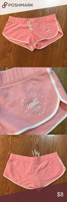 Hollister Lounge Shorts Perfect condition super cute and comfy, light pink Hollister Shorts