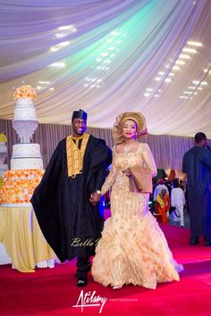 BellaNaija Weddings presents Safiya Aliyu & Umar Isa Yuguda's Glorious Northern Nigerian Wedding! Nigerian Traditional Wedding, Traditional Wedding Attire, African Lace Dresses, African Fashion Dresses, Ghanaian Fashion, African Wedding Attire, African Attire, African Print Fashion, Africa Fashion