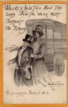Woman Suffrage Postcard Suffragette Series No 4 Poem Suffragist