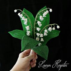 French Beaded Lily of the Valley by Lauren Harpster