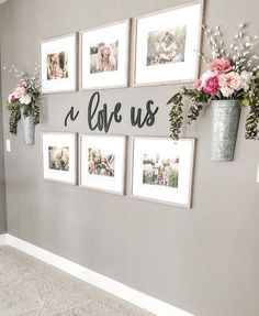 Farmhouse living room wall decor behind couch 28 ideas for 2019 Family Wall Decor, Hallway Wall Decor, Hallway Walls, Picture Wall Living Room, Living Room Wall Ideas, Room Ideas, Entryway Decor, Small Wall Decor, Letter Wall Decor