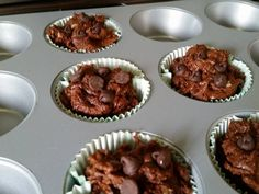 Healthy Chocolate Muffins (No flour. No sugar) 3 Ingredients!