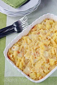 Pasta e patate con provola cottura al forno | Status mamma