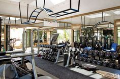 The personal gym of Tom Brady - sweet set up