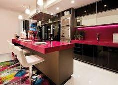 Resultado de imagem para cozinha com móveis planejados azul