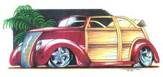 37 Woodie Convertible Hot Rod