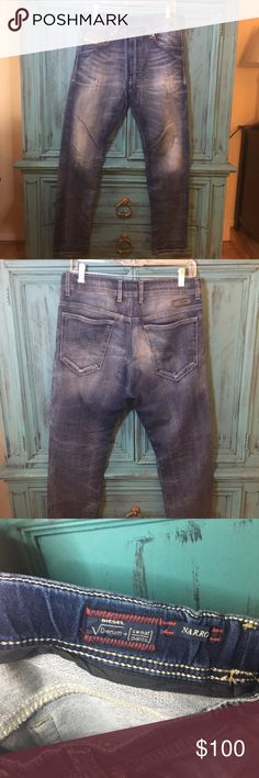 Men's Diesel Drawstring Distressed Jog Jeans Narro Style Denim+Sweatpants Men's Diesel Jog Jeans with Drawstring waist. Great condition, rarely worn Diesel Jeans