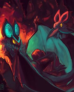 Batties by Delano-Laramie.deviantart.com on @deviantART (Noibat & Noivern)