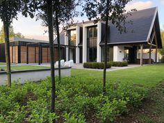 Woning IJsselstein - Bouwstructuur Bungalow Conversion, Modern Barn House, Spa, Architect House, Building A House, Architecture Design, Brick, New Homes, House Design