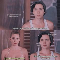 Translation: Jughead: 2 words and 19 letters, tell me and I'll be yours Betty: want hamburgers? Jughead: you are definitely tie love of my life Jughead's thoughts: how did she know? Memes Riverdale, Bughead Riverdale, Riverdale Funny, Jughead Jones Aesthetic, Riverdale Betty And Jughead, Cole M Sprouse, I Dont Fit In, Riverdale Cole Sprouse, Pinterest Memes