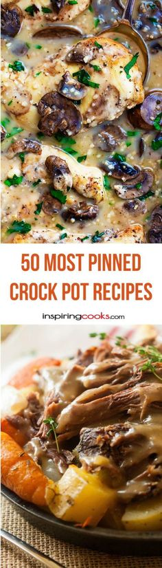 You have got to check out the tons of delicious looking crock pot recipes on this list. I have got to try them out. #9 looks amazing!