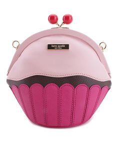 Another great find on #zulily! Pink Cupcake Leather Crossbody Bag #zulilyfinds