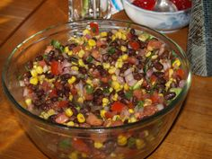 Another Pinner - This is fresh, healthy and delicious.  People love it, even kids.  You can make it ahead, so its great for a summer party.  Serve it with scoop-shaped tortilla chips, or have it on the side as a relish.  I add extra cilantro, because there can never be too much cilantro!