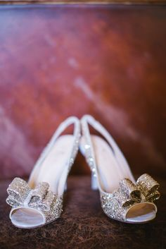Sassy Silver Glitter Bridal Shoes | Kate Spade https://www.theknot.com/marketplace/kate-spade-chicago-il-553252 | Rachel Whyte Photography https://www.theknot.com/marketplace/rachel-whyte-photography-waco-tx-638730