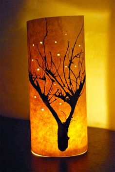 Inky Winter Trees. This is a quick and effective winter craft to do with c…