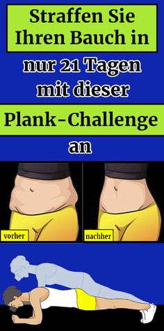 Tighten your stomach in just 21 days with this Plank Ch .- Tighten your stomach in just 21 days with this Plank Challenge - Fitness Workouts, Gewichtsverlust Motivation, Sport Fitness, Fun Workouts, Health Fitness, Workout Exercises, Thigh Challenge, Plank Challenge, Workout Challenge