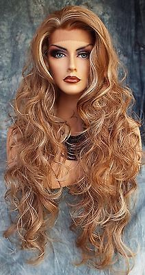 LONG WAVY HAND TIED LACE FRONT WIG CLR FS8/27/613 *GORGEOUS USA SELLER 115