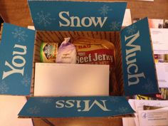 Sending some snow overseas! Military care package for the winter months!