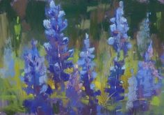 Five Tips for More Painterly Bluebonnets, painting by artist Karen Margulis