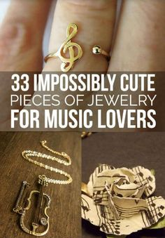 33 Impossibly Cute Music Inspired Jewelry For Music Lovers! #Beauty #Trusper #Tip